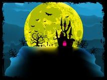 Griezelige Halloween achtergrond. EPS 8 Stock Fotografie