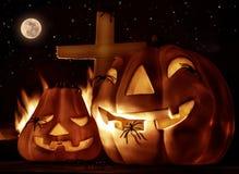 Griezelige Halloween-nacht Stock Afbeelding