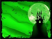 Griezelige Halloween-samenstelling met huis. EPS 10 Royalty-vrije Stock Fotografie