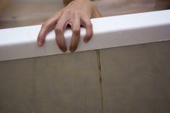 Griezelige hand stock fotografie