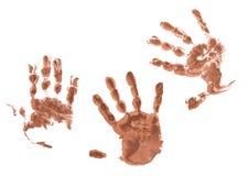 Griezelige handenaf:drukken Stock Afbeelding