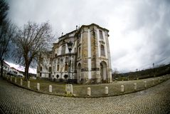 Griezelige kerk, Obidos, Portugal Royalty-vrije Stock Foto's