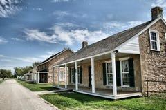 Griezelige Koloniale Huizen Royalty-vrije Stock Fotografie