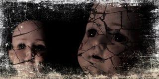Griezelige poppenfoto. Stock Afbeelding