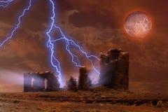Griezelige ruïnes Stock Foto's