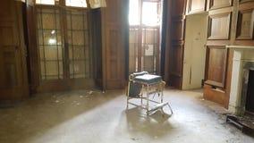 Griezelige stoel Stock Foto's