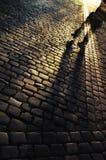 Griezelige straat Stock Foto's