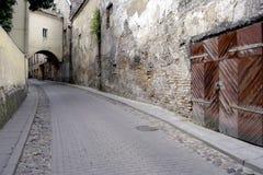 Griezelige straat stock afbeelding