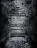 Griezelige verboden deur Stock Foto's