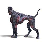 Griezelige vreemde hond uit hel. het 3D teruggeven met Royalty-vrije Stock Fotografie