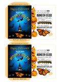 Griezelige Zaden voor Halloween - Spookhuis Royalty-vrije Stock Afbeeldingen