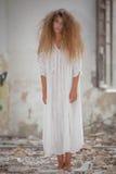 Griezelige zombievrouw Royalty-vrije Stock Fotografie