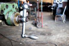 Griff des Metallschwenkers der Maschine Lizenzfreie Stockbilder