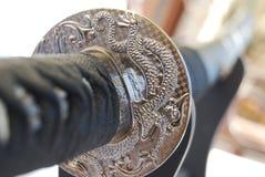 Griff eines japanischen katana Stockfotografie