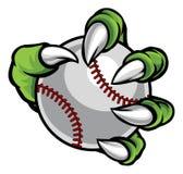 Griffe de monstre ou d'animal tenant la boule de base-ball Photo stock
