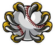 Griffe de monstre tenant la boule de base-ball Photos stock