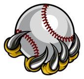 Griffe de monstre tenant la boule de base-ball Photographie stock libre de droits