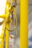 Griffe im elektrischen Zug lizenzfreie stockfotos
