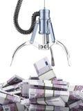 Griffe robotique avec l'euro illustration libre de droits