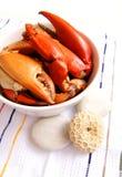 Griffes de crabe cuites à la vapeur photo libre de droits