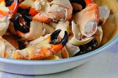 Griffes de crabe en pierre Photographie stock libre de droits