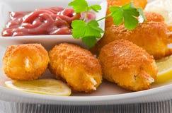 Griffes frites de crabe. photographie stock