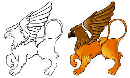 Griffin. Color images and black and white Stock Images