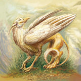 Griffin. Illustration griffin. fantasy, Digital painting Stock Photos