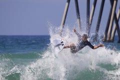 Griffin Colapinto Surfing en el US Open de las furgonetas de practicar surf 2018 imagen de archivo libre de regalías