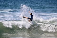 Griffin Colapinto surfing in the Vans US Open of Surfing 2018 Stock Images