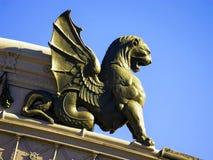 Griffin decoration Atocha Railway Station, Madrid, Spain. Stock Photo