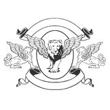 Griffin emblem Royalty Free Stock Photography