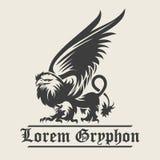 Griffin Engraving Emblem Photographie stock libre de droits