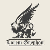 Griffin Engraving Emblem Royalty Free Stock Photography