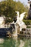 Griffin esculpture in Ciutadella Park, Barcelona. Stock Photo