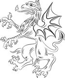 Griffin heraldry symbol Royalty Free Stock Photos