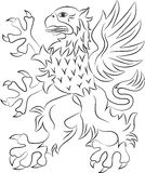 Griffin heraldry symbol Royalty Free Stock Photography