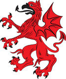 Griffin heraldry symbol. Vector illustration. Silhouette or outline Royalty Free Stock Photos