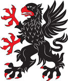 Griffin heraldry symbol. Vector illustration. Silhouette or outline Stock Images