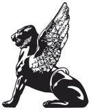 Griffin - mythical animal Stock Photos