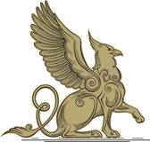 Griffin - a mythical creature with the head, claws and wings of Royalty Free Stock Images