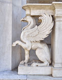 Griffin, mythical creature marble statue Stock Photo