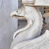 Griffin, mythical creature marble statue Royalty Free Stock Photo