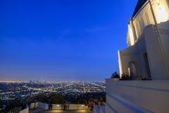 Griffin Observatory y Los Ángeles céntricos Foto de archivo