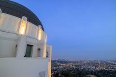 Griffin Observatory y Los Ángeles céntricos Fotos de archivo