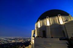Griffin Observatory y Los Ángeles céntricos Imagenes de archivo