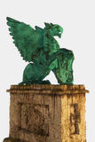 Griffin on pedestal Royalty Free Stock Photo