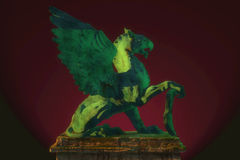 Griffin on pedestal Royalty Free Stock Photography