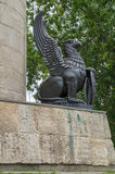 Griffin right of the pedestal of the monument to Ilya Muromets in Murom Royalty Free Stock Photos