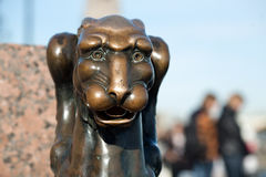 The Griffin`s head. And a lion`s body stock images